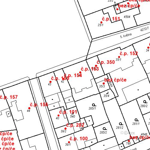 Katastrální mapa Stavební objekt Žlutice 153, Žlutice