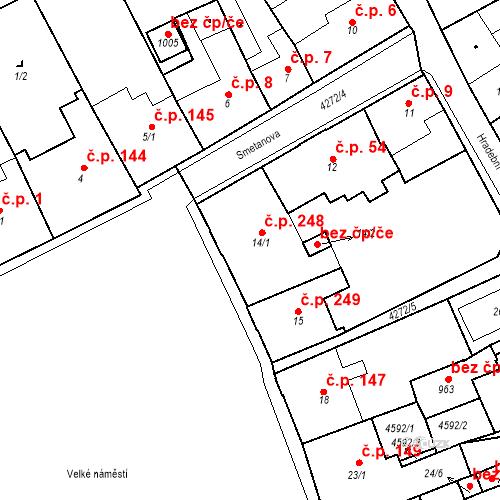 Katastrální mapa Stavební objekt Žlutice 248, Žlutice