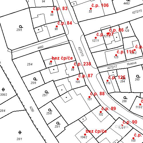 Katastrální mapa Stavební objekt Žlutice 238, Žlutice