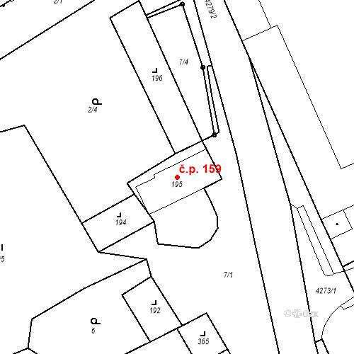 Katastrální mapa Stavební objekt Žlutice 159, Žlutice