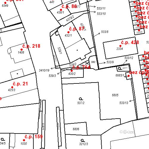Katastrální mapa Stavební objekt Klatovy IV 754, Klatovy