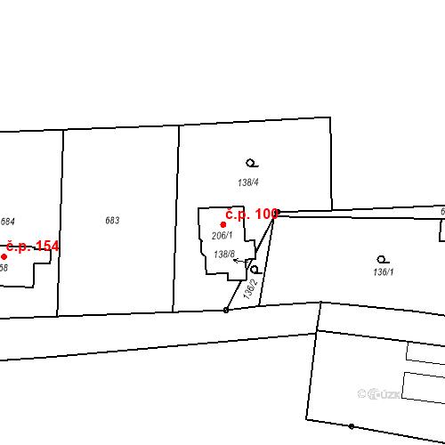 Katastrální mapa Stavební objekt Štěpánovice 100, Klatovy