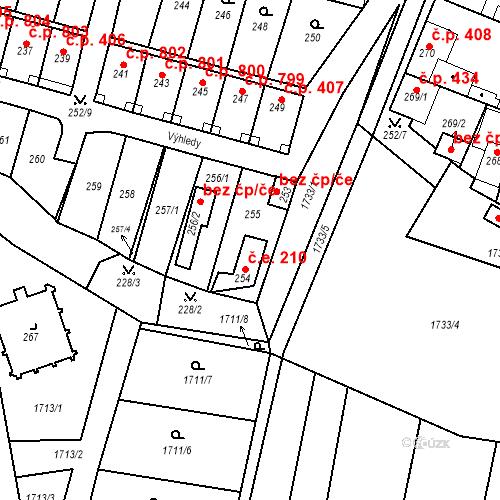 Katastrální mapa Stavební objekt Nýřany 210, Nýřany