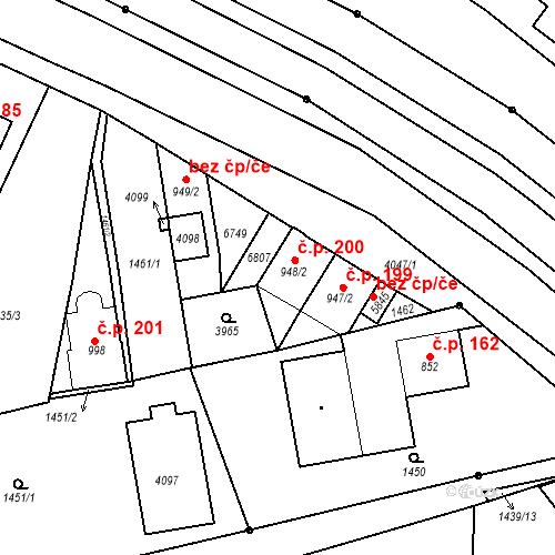 Katastrální mapa Stavební objekt Klatovy III 200, Klatovy