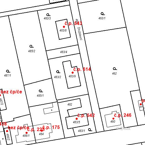 Katastrální mapa Stavební objekt Zbůch 614, Zbůch