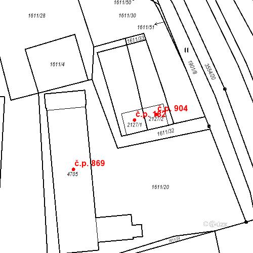 Katastrální mapa Stavební objekt Klatovy III 182, Klatovy