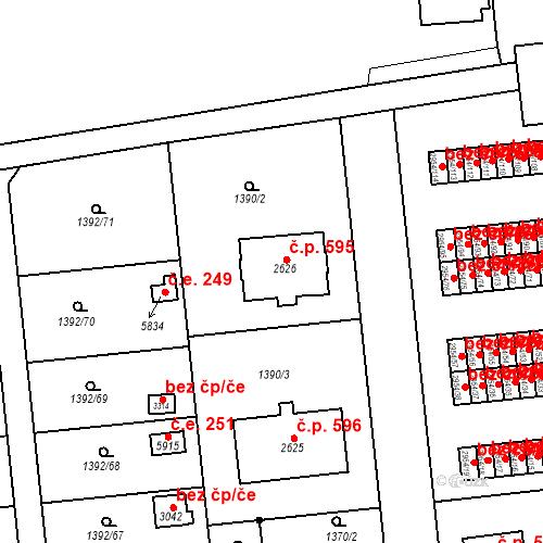 Katastrální mapa Stavební objekt Klatovy III 595, Klatovy
