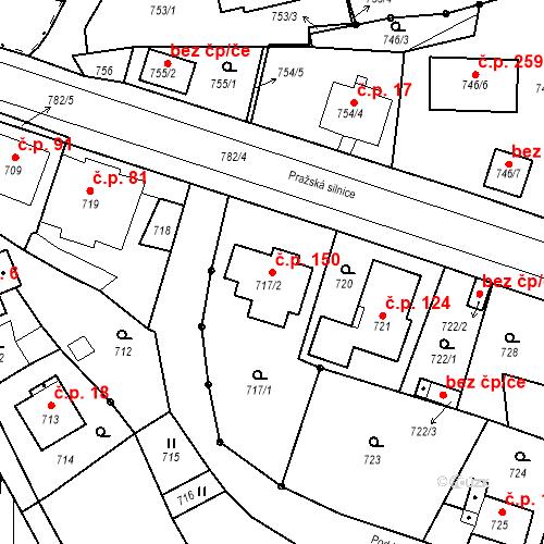 Katastrální mapa Stavební objekt Hůrky 150, Karlovy Vary