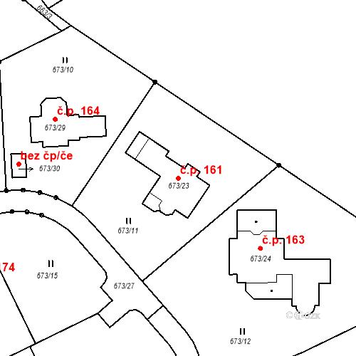 Katastrální mapa Stavební objekt Hůrky 161, Karlovy Vary