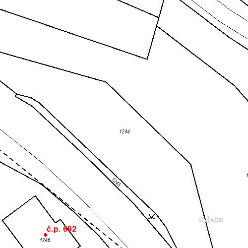 Katastrální mapa Stavební objekt Drahovice 657, Karlovy Vary