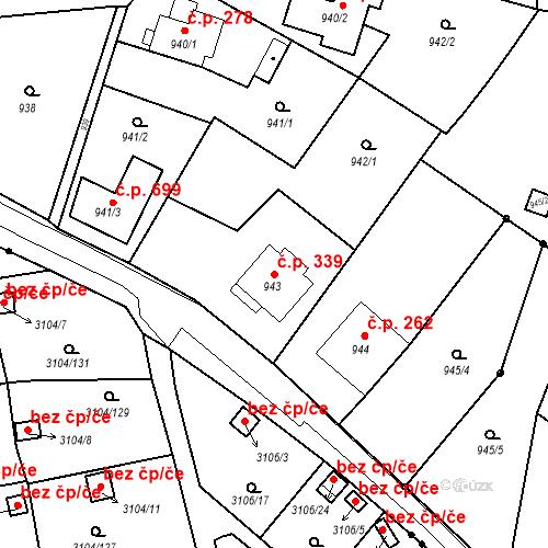 Katastrální mapa Stavební objekt Drahovice 339, Karlovy Vary