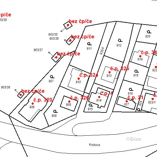Katastrální mapa Stavební objekt Drahovice 324, Karlovy Vary