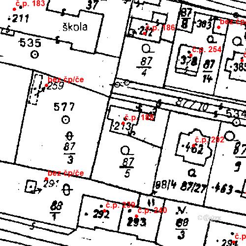 Katastrální mapa Stavební objekt Bezdružice 188, Bezdružice