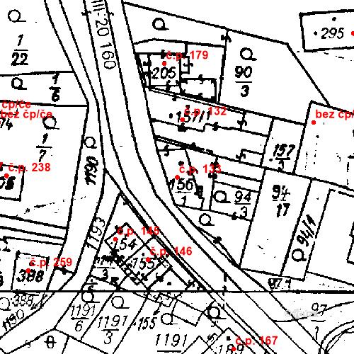 Katastrální mapa Stavební objekt Bezdružice 133, Bezdružice
