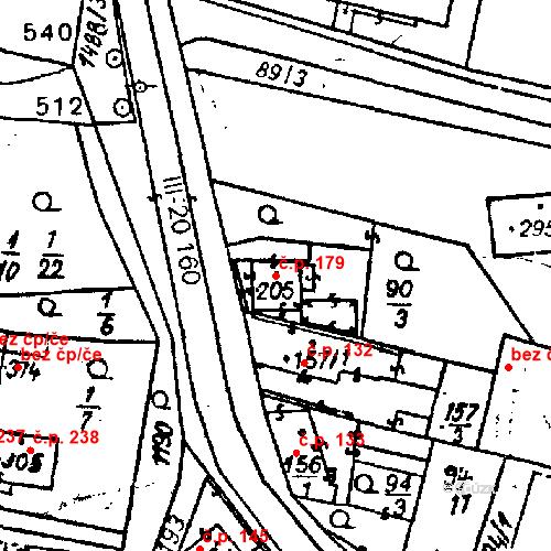Katastrální mapa Stavební objekt Bezdružice 179, Bezdružice
