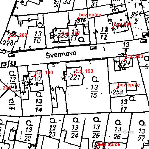 Katastrální mapa Stavební objekt Bezdružice 193, Bezdružice