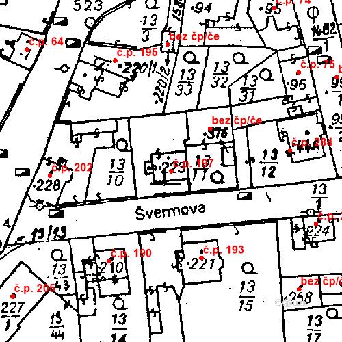 Katastrální mapa Stavební objekt Bezdružice 197, Bezdružice