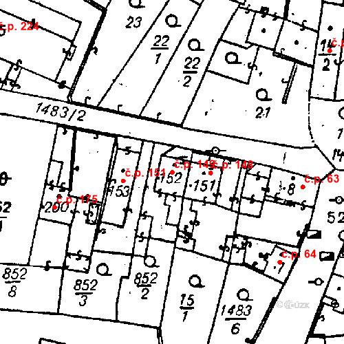 Katastrální mapa Stavební objekt Bezdružice 149, Bezdružice