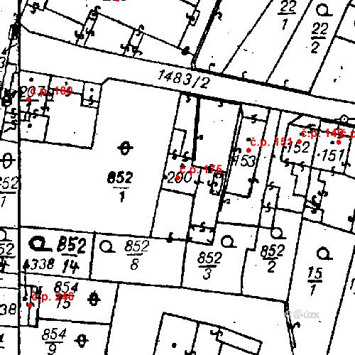 Katastrální mapa Stavební objekt Bezdružice 175, Bezdružice