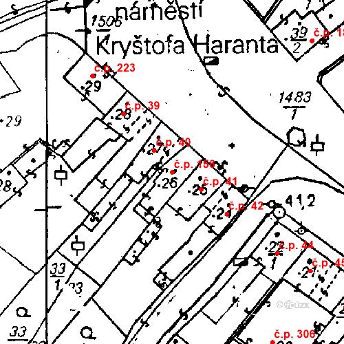 Katastrální mapa Stavební objekt Bezdružice 156, Bezdružice
