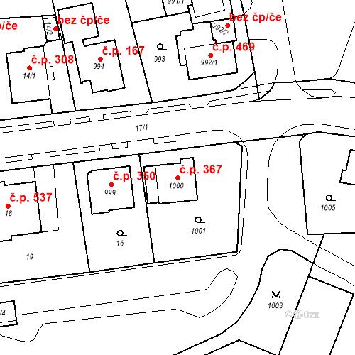 Katastrální mapa Stavební objekt Drahovice 367, Karlovy Vary