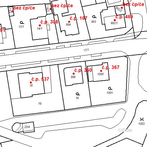 Katastrální mapa Stavební objekt Drahovice 350, Karlovy Vary