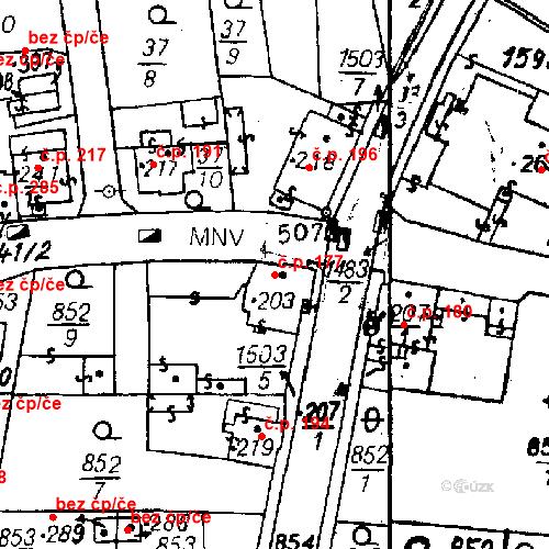 Katastrální mapa Stavební objekt Bezdružice 177, Bezdružice