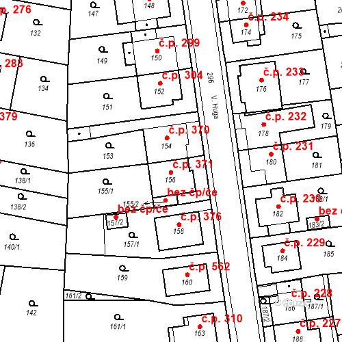 Katastrální mapa Stavební objekt Drahovice 371, Karlovy Vary