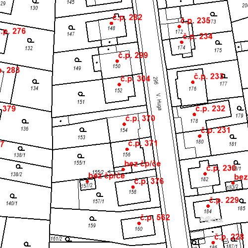 Katastrální mapa Stavební objekt Drahovice 370, Karlovy Vary