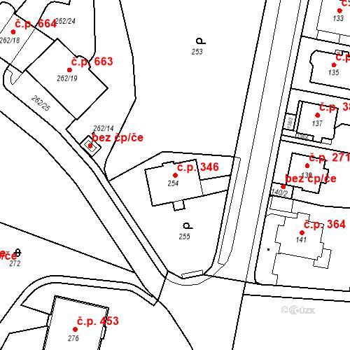 Katastrální mapa Stavební objekt Drahovice 346, Karlovy Vary