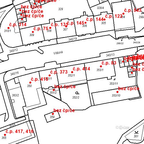 Katastrální mapa Stavební objekt Drahovice 414, Karlovy Vary
