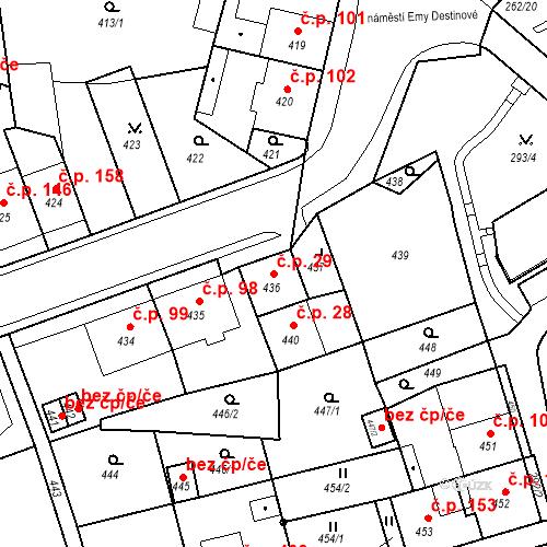 Katastrální mapa Stavební objekt Drahovice 29, Karlovy Vary