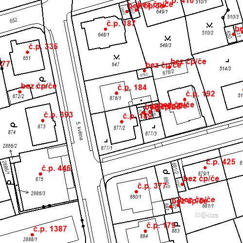 Katastrální mapa Stavební objekt Drahovice 189, Karlovy Vary