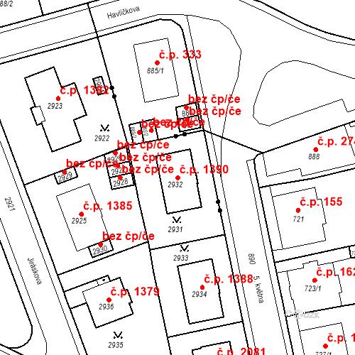 Katastrální mapa Stavební objekt Karlovy Vary 1390, Karlovy Vary