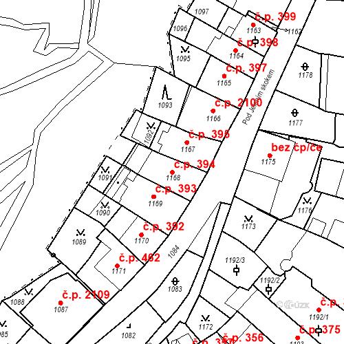 Katastrální mapa Stavební objekt Karlovy Vary 394, Karlovy Vary
