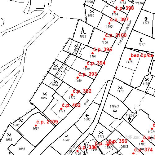 Katastrální mapa Stavební objekt Karlovy Vary 393, Karlovy Vary