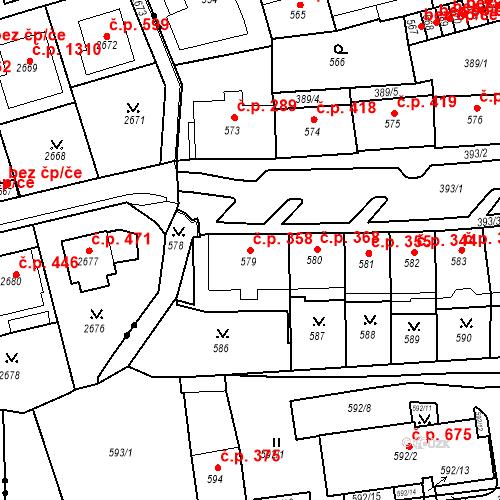 Katastrální mapa Stavební objekt Drahovice 358, Karlovy Vary