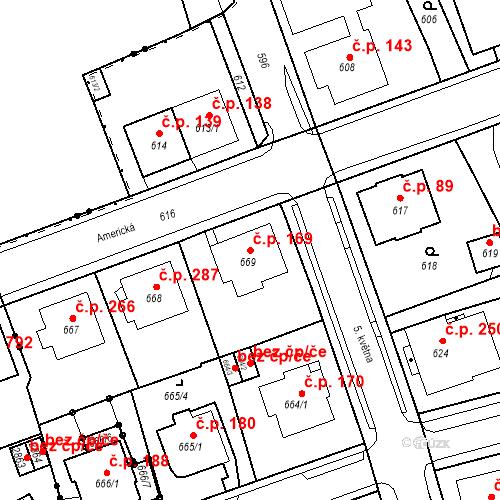 Katastrální mapa Stavební objekt Drahovice 169, Karlovy Vary