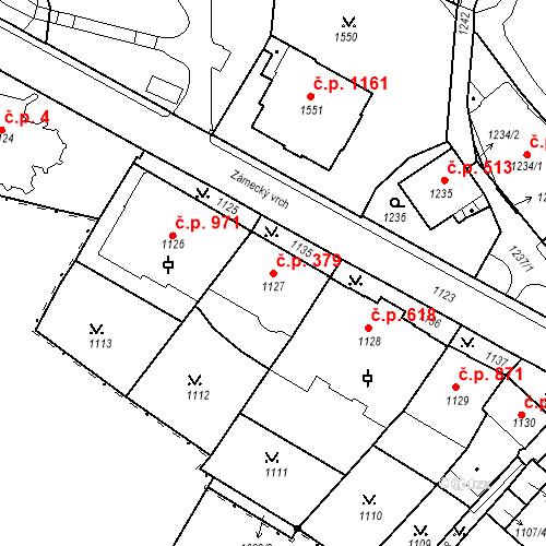 Katastrální mapa Stavební objekt Karlovy Vary 379, Karlovy Vary