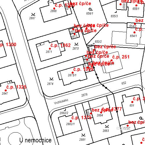 Katastrální mapa Stavební objekt Karlovy Vary 1399, Karlovy Vary