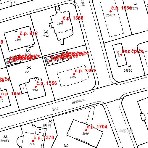 Katastrální mapa Stavební objekt Karlovy Vary 1391, Karlovy Vary