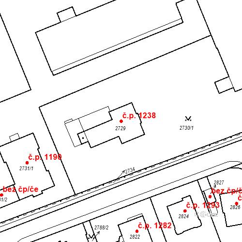 Katastrální mapa Stavební objekt Karlovy Vary 1238, Karlovy Vary