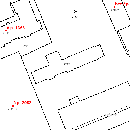 Katastrální mapa Stavební objekt Karlovy Vary 1090, Karlovy Vary