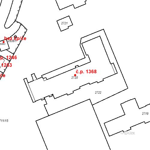 Katastrální mapa Stavební objekt Karlovy Vary 1368, Karlovy Vary