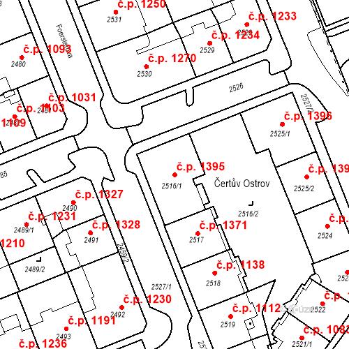 Katastrální mapa Stavební objekt Karlovy Vary 1395, Karlovy Vary