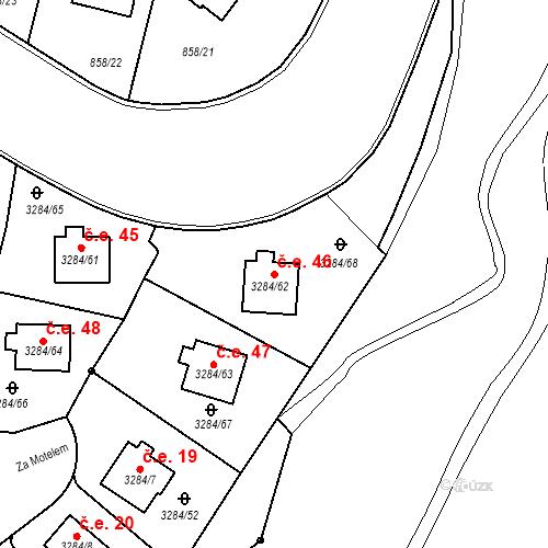 Katastrální mapa Stavební objekt Karlovy Vary 46, Karlovy Vary