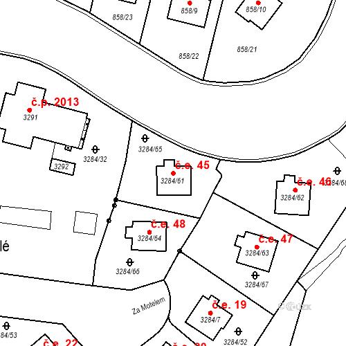 Katastrální mapa Stavební objekt Karlovy Vary 45, Karlovy Vary