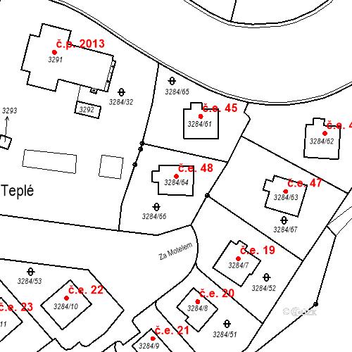 Katastrální mapa Stavební objekt Karlovy Vary 48, Karlovy Vary