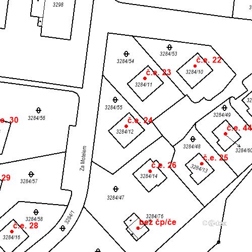 Katastrální mapa Stavební objekt Karlovy Vary 24, Karlovy Vary