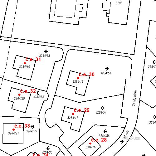 Katastrální mapa Stavební objekt Karlovy Vary 30, Karlovy Vary